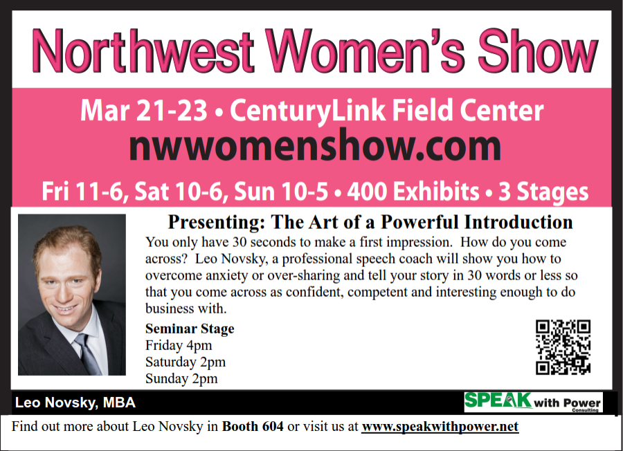 NW Women's show - The Art of A Powerful Introduction