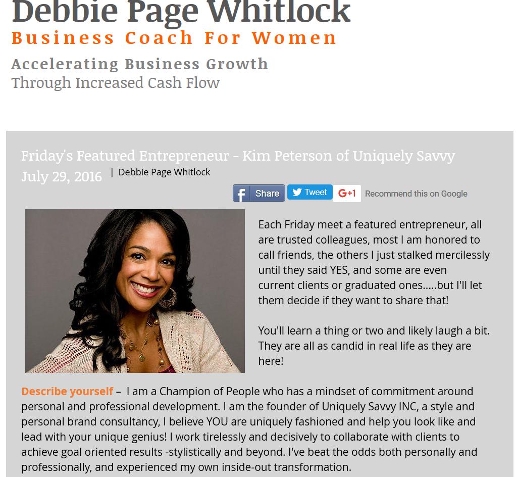 debbie blog